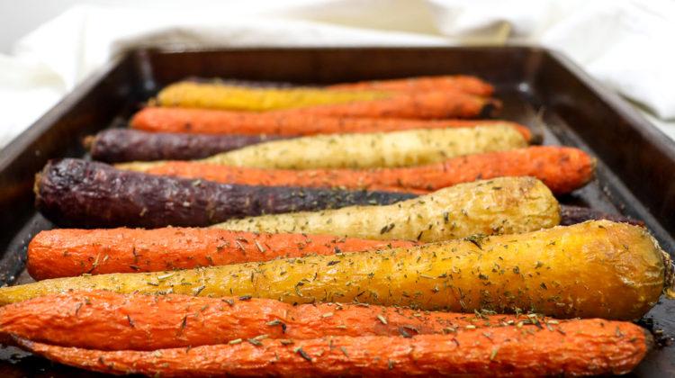 Honey Roasted Rainbow Carrots