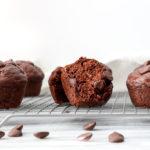 Healthier Chocolate Banana Muffins
