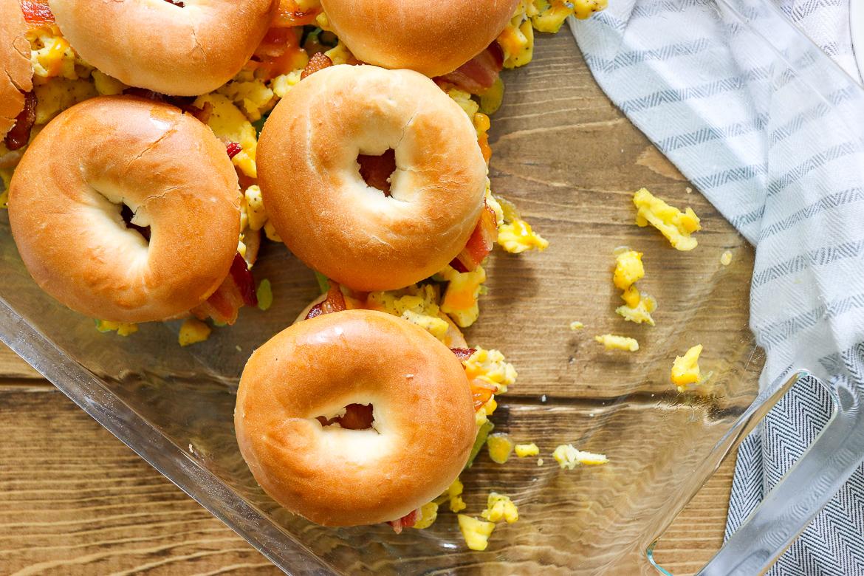 Breakfast Bagel Sliders