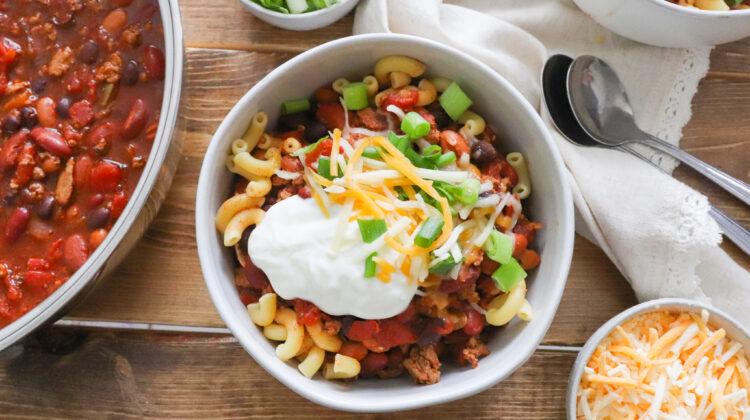 Crockpot Turkey Chili Mac