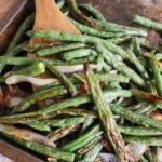 Garlic Roasted Green Beans & Shallots