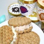 Healthier Ice Cream Waffle Sandwiches