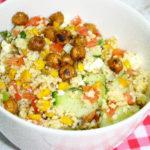 Summer Garden Series: Crispy Chickpea Couscous Salad