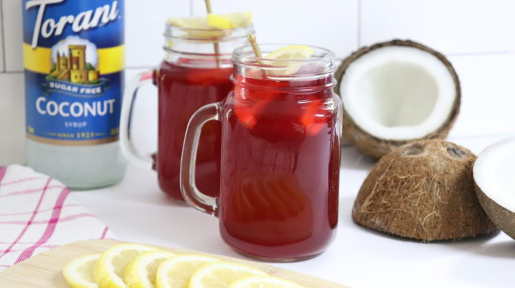 Coconut Hibiscus Lemonade