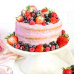Very Berry Vanilla Layer Cake