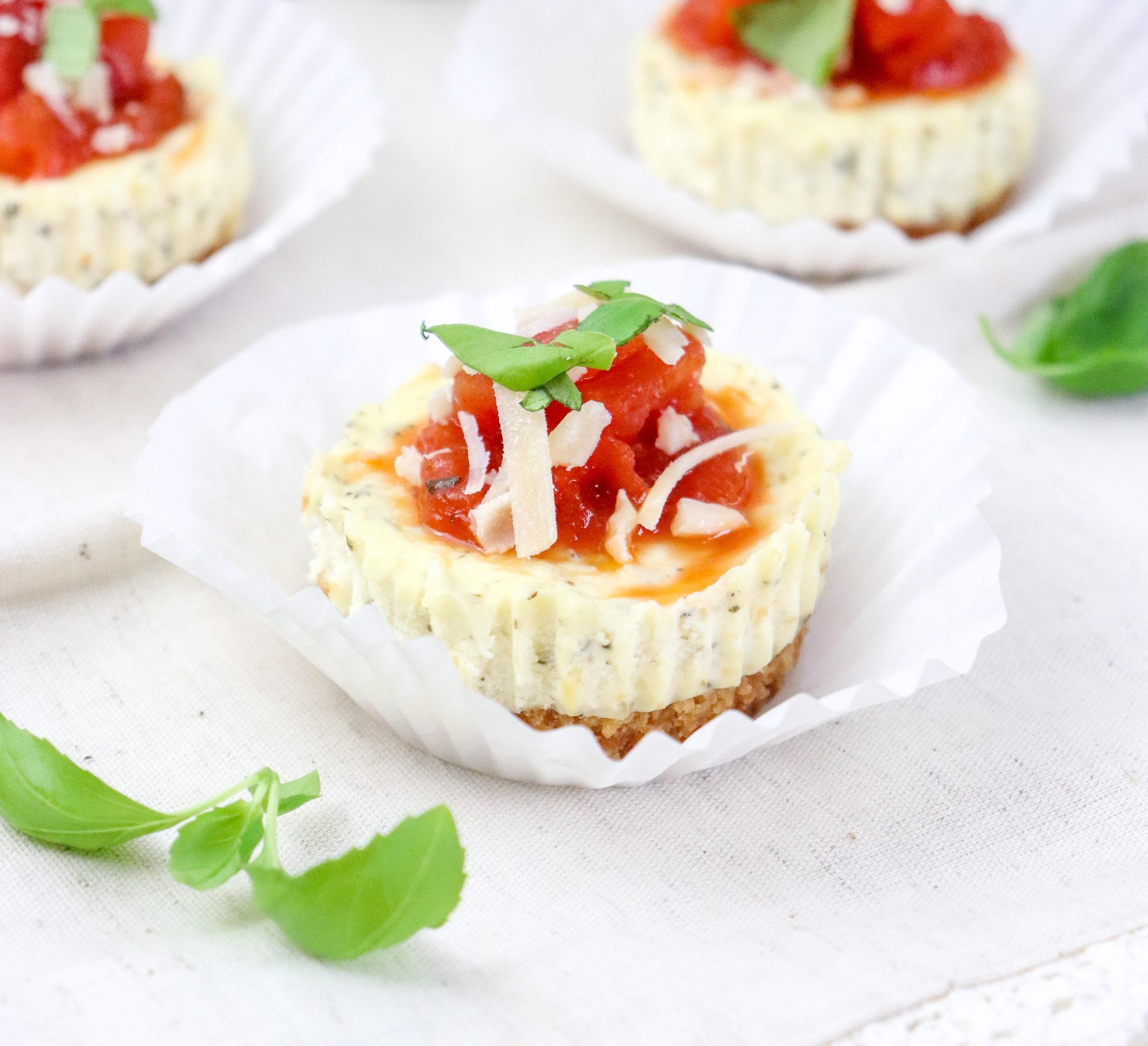 Mini Savory Italian Cheesecakes