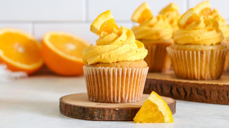 Mimosa Cupcakes with Orange Cream Buttercream