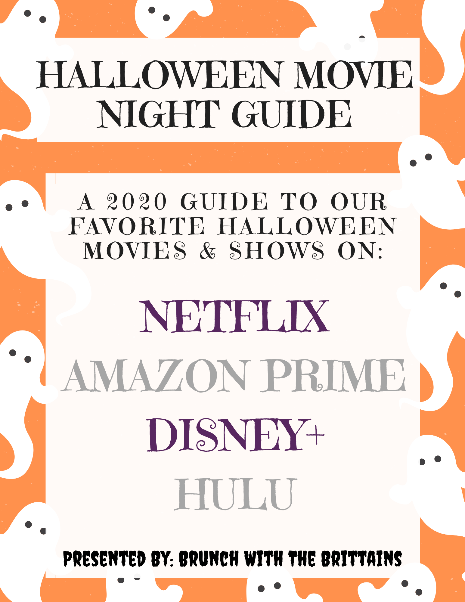 2020 Halloween Movie Night Streaming Guide